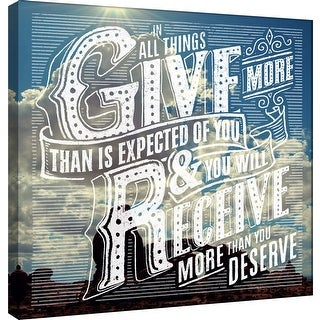 "PTM Images 9-101014  PTM Canvas Collection 12"" x 12"" - ""Give"" Giclee Family Saying Art Print on Canvas"