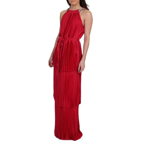 Juicy Couture Black Label Womens Evening Dress Sateen Halter