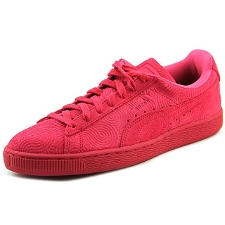 Puma Suede Classic +  Women  Round Toe Canvas Red Sneakers