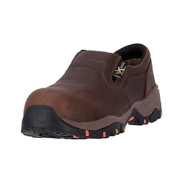 McRae Industrial Work Shoes Womens Slip On EH CT Met Brown