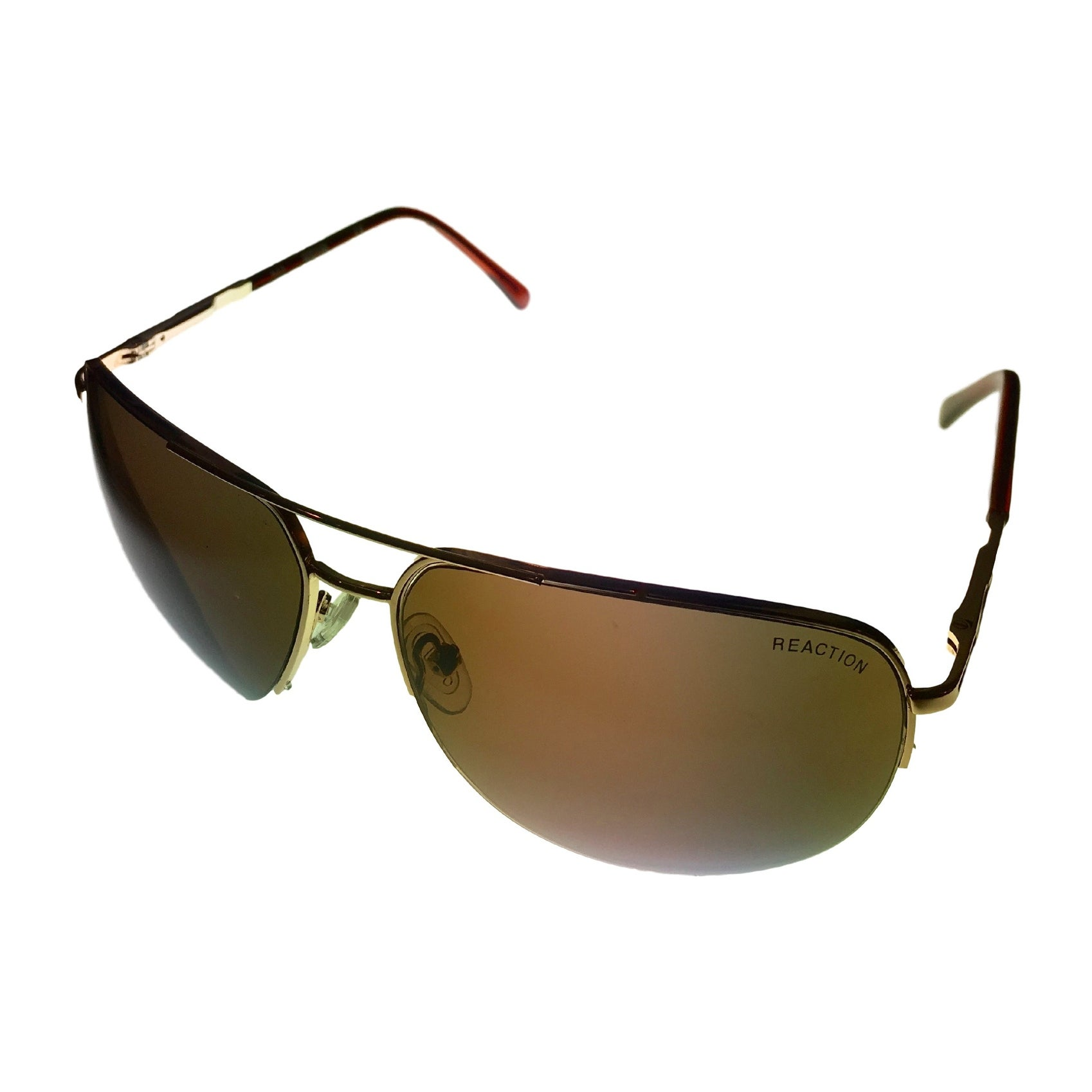 Kenneth Cole Reaction Mens Bottom Rimless Gold Metal Aviator KC1098 32E - Thumbnail 0