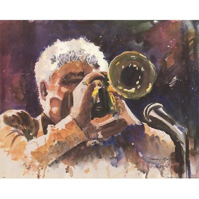 ''Maynard Ferguson'' by Harmon Montgomery Jazz Art Print (16 x 20 in.)