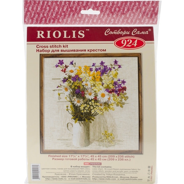 "Wildflowers Counted Cross Stitch Kit-17.75""X17.75"" 15 Count"