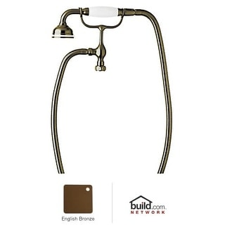 Rohl U.5380 Perrin and Rowe Tub Filler Hand Shower with White Porcelain Handle,