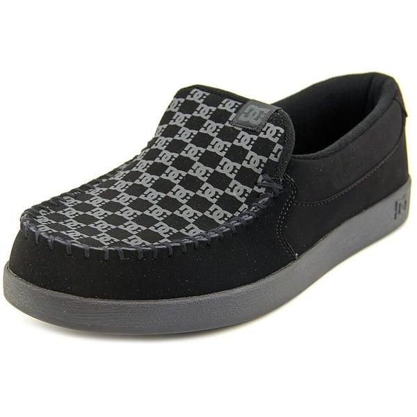 Shop Black Friday Deals On Dc Shoes Villain Men Moc Toe Leather Black Loafer Overstock 13575968