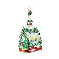 "7"" Christopher Radko ""Blessed Gathering"" Glass Christmas Tree Ornament #1019596 - WHITE"