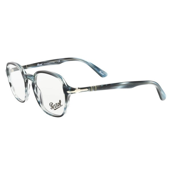 07711e4f5b787 Shop Persol PO3142V 1051 Grey Teal Square Optical Frames - 47-21-145 ...
