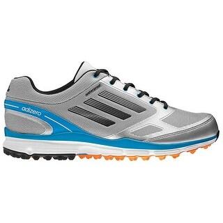Adidas Men's Adizero Sport II Metallic Silver/Carbon/Solar Blue Golf Shoes Q46864