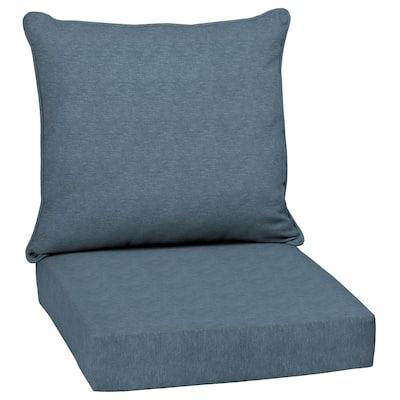 Arden Selections Denim Alair Texture Outdoor Deep Seat Cushion Set - 24 W x 24 D in.