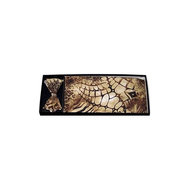 3217eb7aec7d Shop Wildside Animal Print Bow Tie and Cummerbund Set - One Size Fits Most  - On Sale - Free Shipping Today - Overstock - 27033409