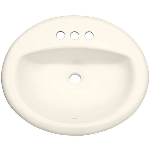"PROFLO PF20174 20-1/2"" Self Rimming (Drop-In) Oval Bathroom Sink - 3"