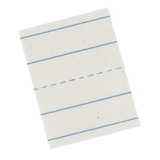 Pacon Ruled Skip-A Line Newsprint Picture Story Paper, 18 X 12 in, White, Pack of 500
