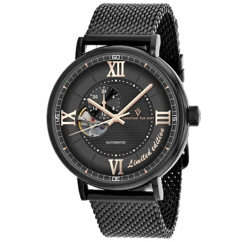Christian Van Sant Men's Somptueuse Limited Edition Black Dial Watch - CV1144