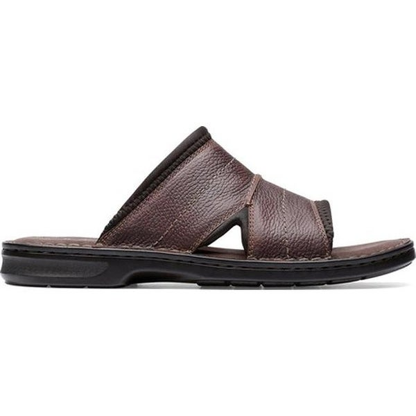 57e58a4865a Shop Clarks Men s Malone Easy Slide Dark Brown Tumbled Leather - Free  Shipping Today - Overstock - 27346903