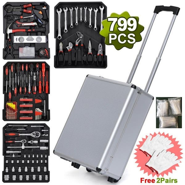 Citronic 127.009 Sturdy Lockable Aluminium Tool Chest Carry Wheeled Case Trolley
