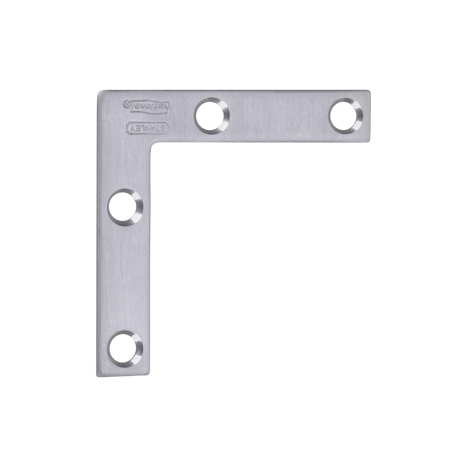 Stanley 348-326 Flat Corner Brace, 2 x 3/8, Stainless Steel