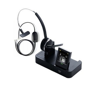 Jabra PRO 9470 with 14201-17 EHS for Polycom Wireless Bluetooth Headset with 3 Wearing Styles
