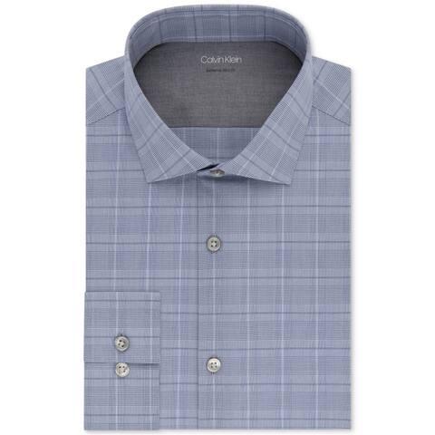 Calvin Klein Mens Extreme Slim Button Up Dress Shirt