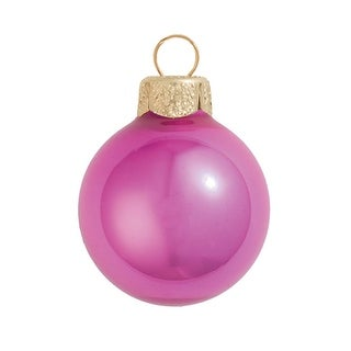 "2ct Shiny Lipstick Pink Glass Ball Christmas Ornaments 6"" (150mm)"