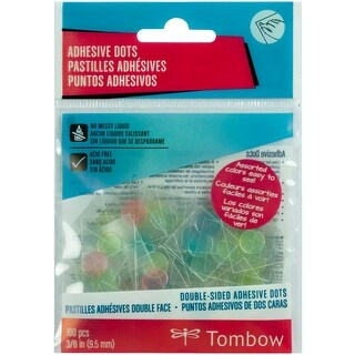 """Double-Sided Adhesive Dots-Clear Pastel .375"""" 100/Pkg"""