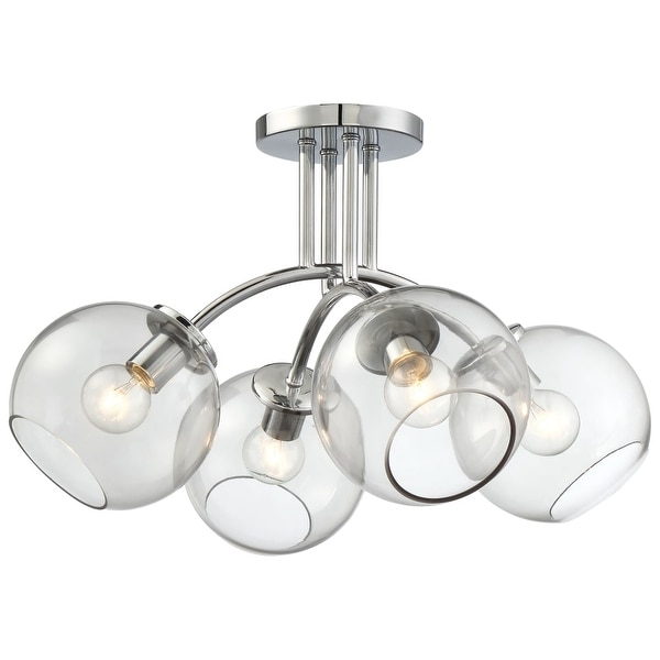 Kovacs P1845-077 4-Light Semi-Flush from the Exposed Collection - Chrome - n/a
