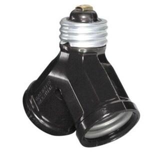 Leviton C20-00128-000 Twin Light Socket, 15 Amp, 660 Watts