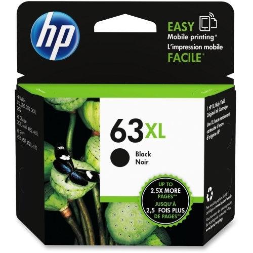 HP 63XL Black Ink Cartridge, High-Yield F6U64AN