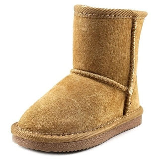 Lamo Kids Classic Boot Toddler Round Toe Suede Tan Winter Boot