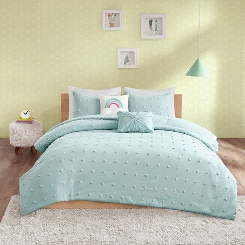 Ensley Cotton Jacquard Pom Pom Comforter Set by Urban Habitat Kids