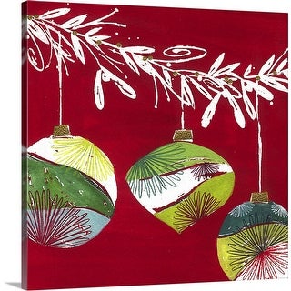 """Ornaments"" Canvas Wall Art"