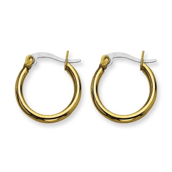 Stainless Steel Gold-plated 19mm Hoop Earrings