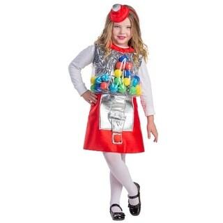 Gumball Machine Girls Costume, Large - Age 12 to 14