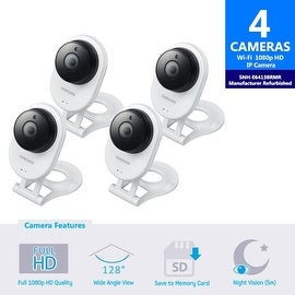 4 Pack SNH-E6413BMR - Samsung HD WiFi IP Camera with 16GB microSD Card (Refurbished)