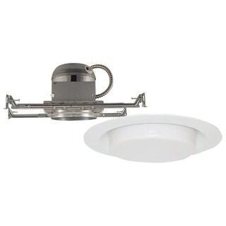 """Design House 515056 6"""" Recessed Light Kit with White Drop Lens"""