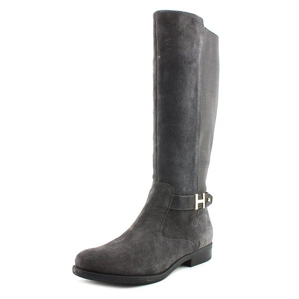 9223faaa9 Shop Tommy Hilfiger Suprem Women Round Toe Suede Gray Knee High Boot ...