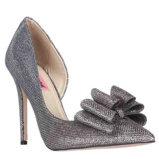 Betsey Johnson Prince Dorsay Bow Toe Pumps, Pewter