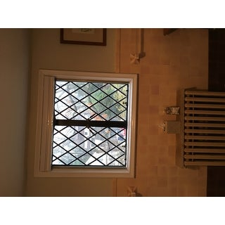 First Rate Blinds Cool White Cordless Top Down Bottom Up 37 to 37.5-inch Wide Cellular Shades