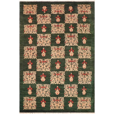 """Bohemien Ziegler Carlie Hand Knotted Area Rug -6'2"""" x 9'2"""" - 6 ft. 2 in. X 9 ft. 2 in."""