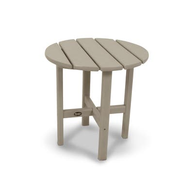 """Trex Outdoor Furniture Cape Cod Round 18"""" Side Table"""