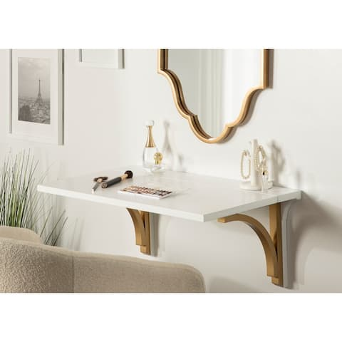 Kate and Laurel Corblynd Wood Wall Mounted Desk