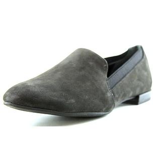 Franco Sarto Senate Women Round Toe Leather Black Loafer