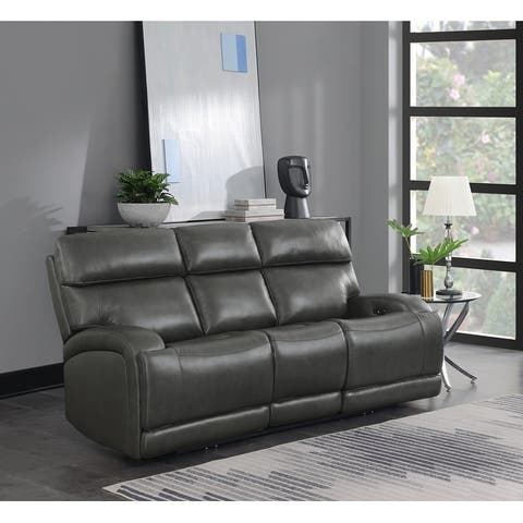 Marcelle Upholstered Power Sofa with Power Outlet