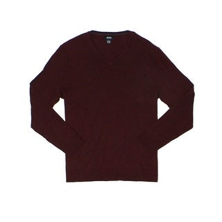 Alfani NEW Port Heather Red Mens Size Medium M Pullover V-Neck Sweater