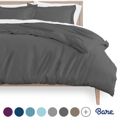 Bare Home Ultra-Soft Hypoallergenic Microfiber Duvet Cover & Sham Set