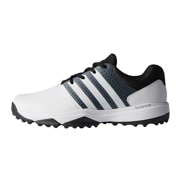 New Men's Adidas 360 Traxion Golf Shoes White/Black/Met. Silver ...