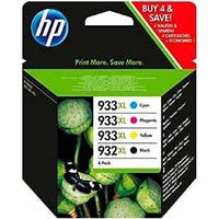HP 932XL/933XL 4-Pack High Yield Ink Cartridges C2P42AE - N/A