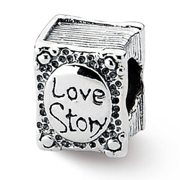 Sterling Silver Reflections Love Story Book Bead (4mm Diameter Hole)