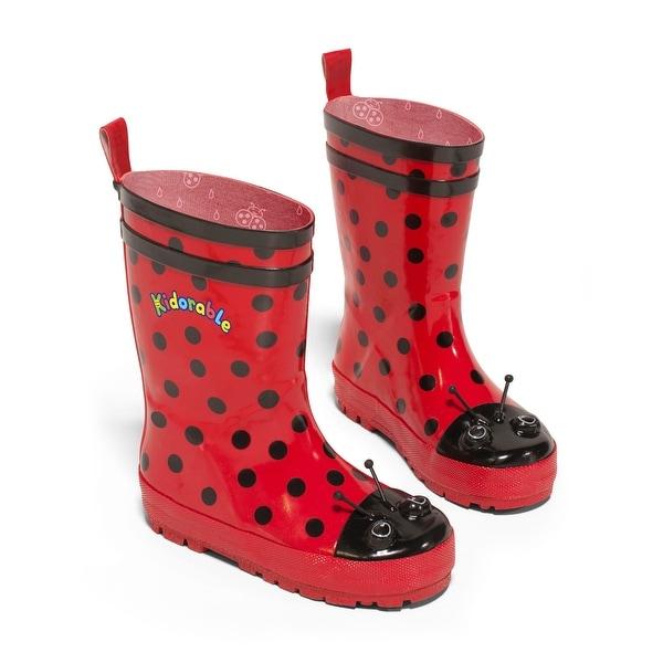 Kidorable Ladybug Rain Boot - Red
