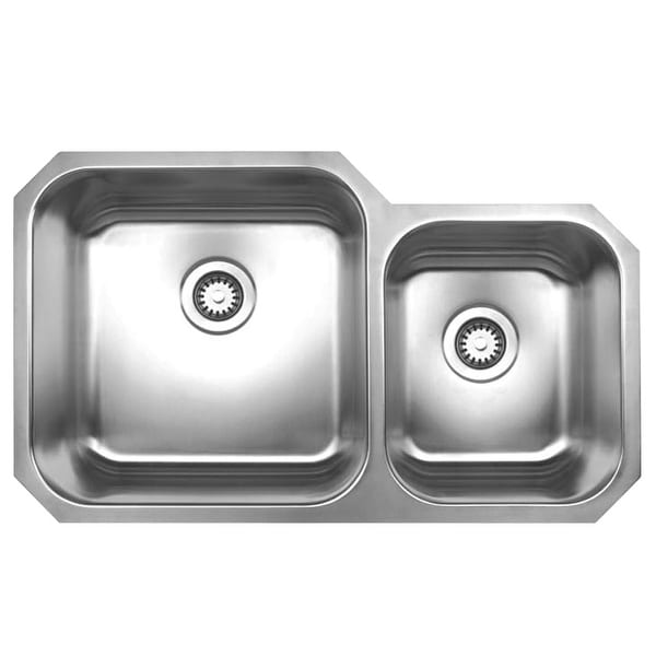 Whitehaus WHNDBU3320 Fixture Kitchen Sink Stainless Steel from the Noah series - Brushed Stainless Steel