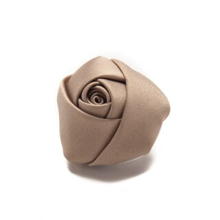 Jacob Alexander Satin Rose Lapel Flower Boutonniere - One size (Option: Tan)